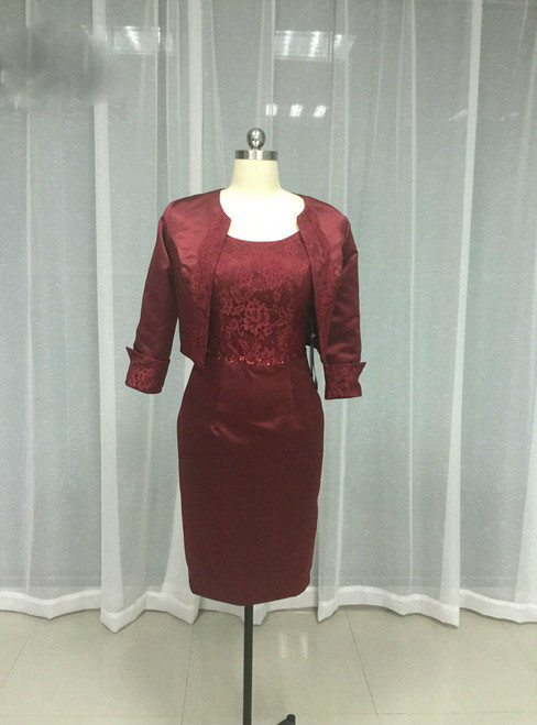 Amazing 2017 Burgundy Satin Mother Of The Bride Dresses