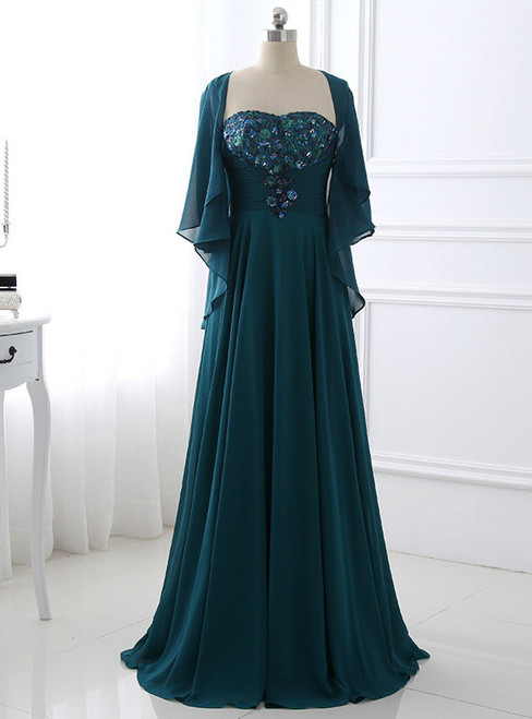 Stylish 2017 Women Elegant Chiffon Long A-Line Mother of the Bride Dresses