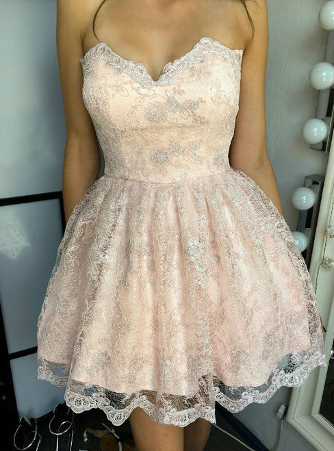 Sweetheart Homecoming Dresses A-line Homecoming Dresses Lace Homecoming Dresses