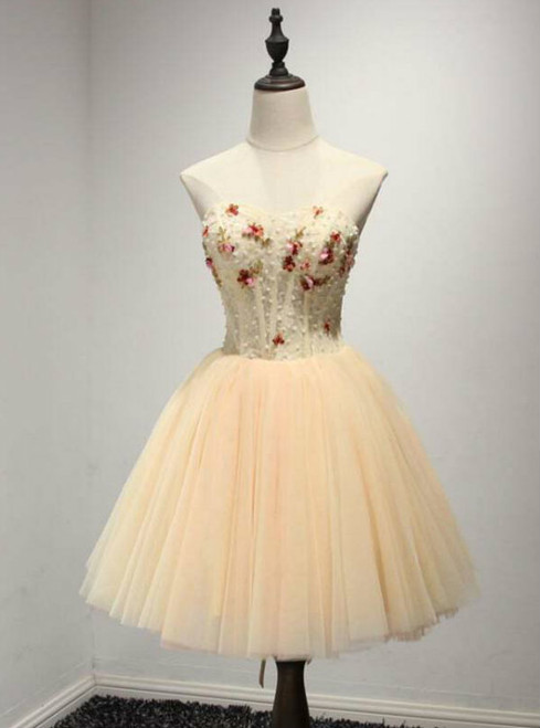 Fancy A Line Homecoming Dress Sweetheart Homecoming Dresses