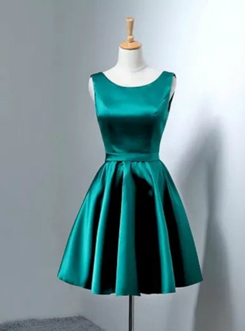 hunter green homecoming dress short prom dresses gowns bow back cocktail dres