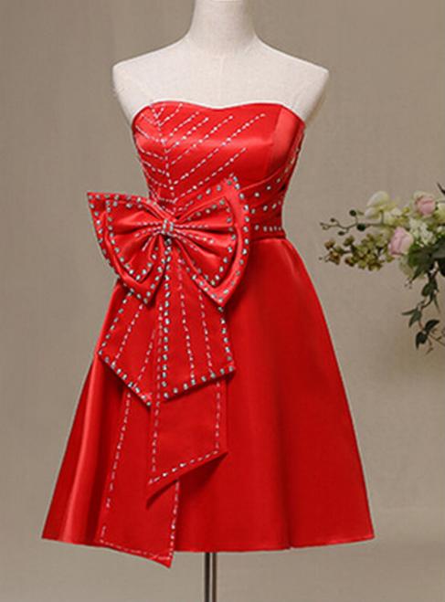 Simple Prom Dress Cheap Homecoming Dress Strapless Evening Dress