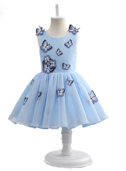 Fashion Simple Ball Gown Sleeveless Flower Girl Dresses For Wedding Party