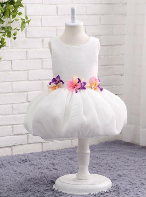Classic Skirt Floral O-neck Ball Gown Flower Girl Gowns Children