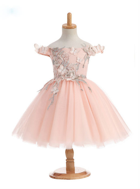 Wonderful 2017 New Arrival Ball Gown Flower Girl Dresses For Wedding Off The Shoulder Flowers