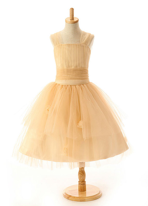 Marvelous Real Photos Flower Girl Dress High Quality Tulle Children Pageant Dress