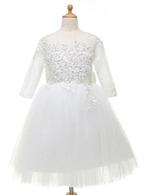 Fairy Tale  Flower Girl Dresses For Weddings 2017 For Little Girls With Bow
