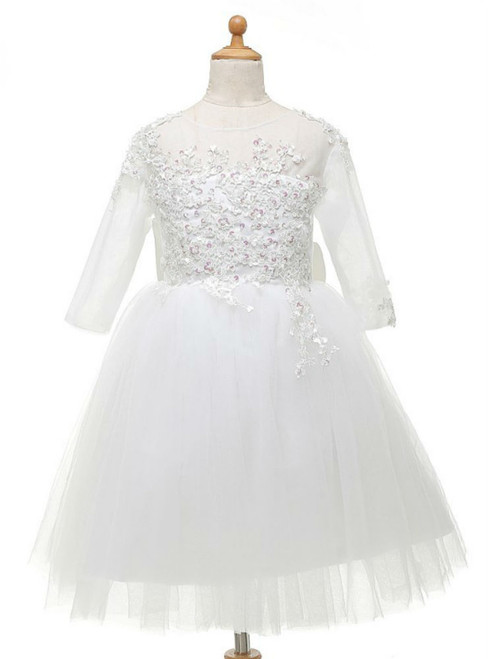 Fairy Tale  Flower Girl Dresses For Weddings 2017 For Little Girls With Bow