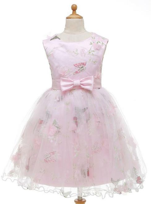Dreamy Butterfly Pink Flower Girl Dresses For Weddings  Dresses For Little Girls