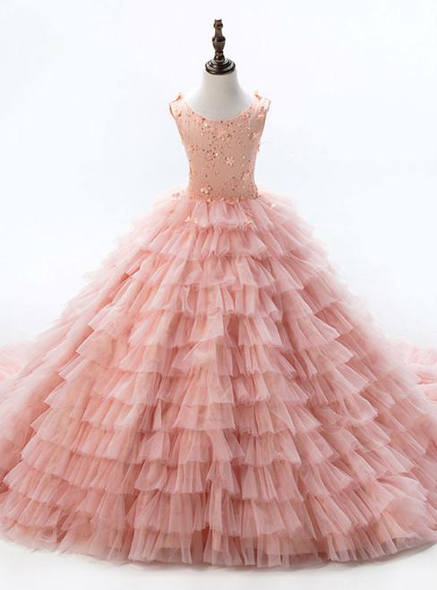 Glamorous Romance  Dresses For Girls  Flower Girl Dresses Sleeveless Ball Gowns Girls