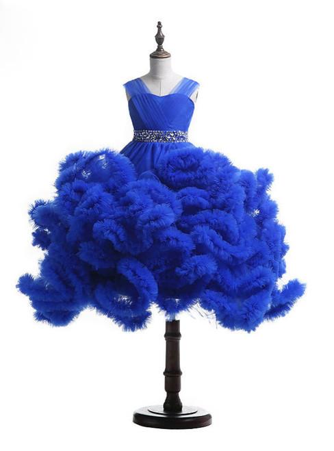 Romantic 2017 Girls Pageant Dresses Cloud Flower Girl Dresses