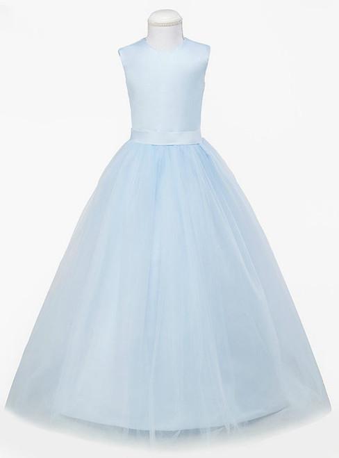 Pretty Light Blue Ball Gown Flower Girl Dresses Sleeveless