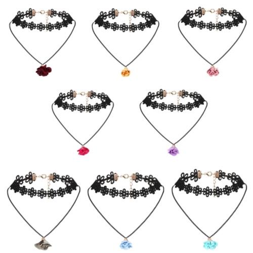 Popular Lace Floral Pendant Choker Necklace