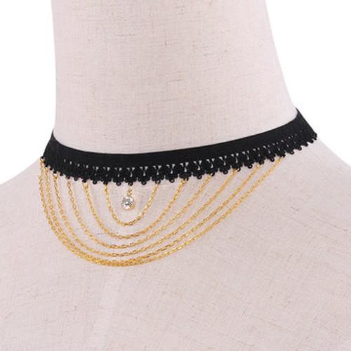 Cheap Elastic Pendant Choker Necklace