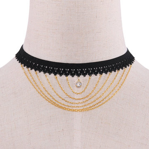 Cheap Elastic Pendant Choker Necklace