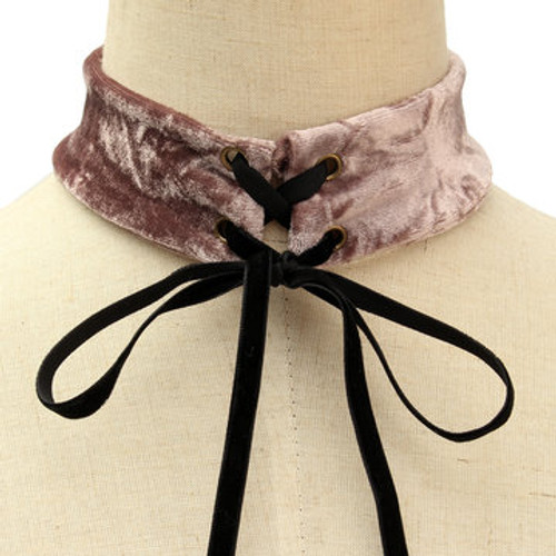 Cheap Purple Fashion Velvet Lace-up Design Choker Necklace