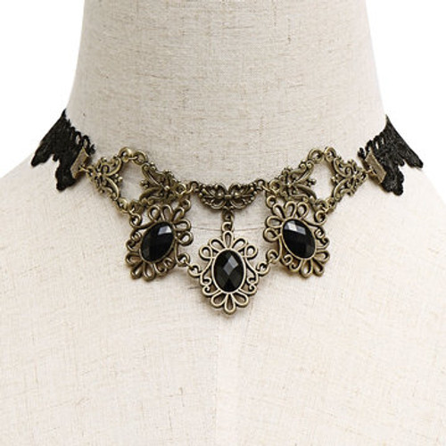 Cheap Artificial Crystal Inlay Lace Necklace