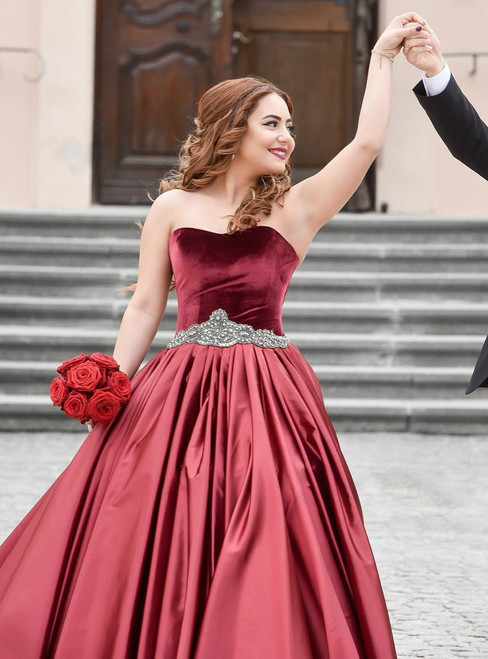 Party Dress Prom Dresses 2017 Red Satin