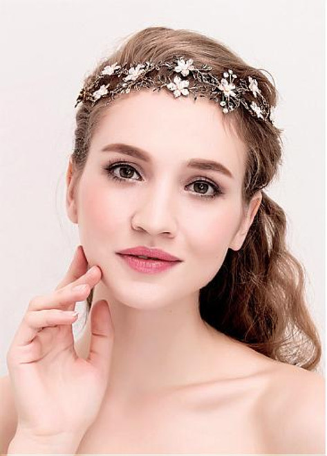 Wedding Hair Jewelry With Pearls In Stock Attractive Alloy