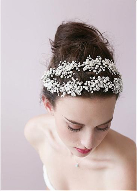 Cheap Stunning Alloy Hair Ornaments With Rhinestones & Pearls