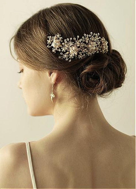 Fashion Alluring Alloy Wedding Hair Jewelry With Rhinestones