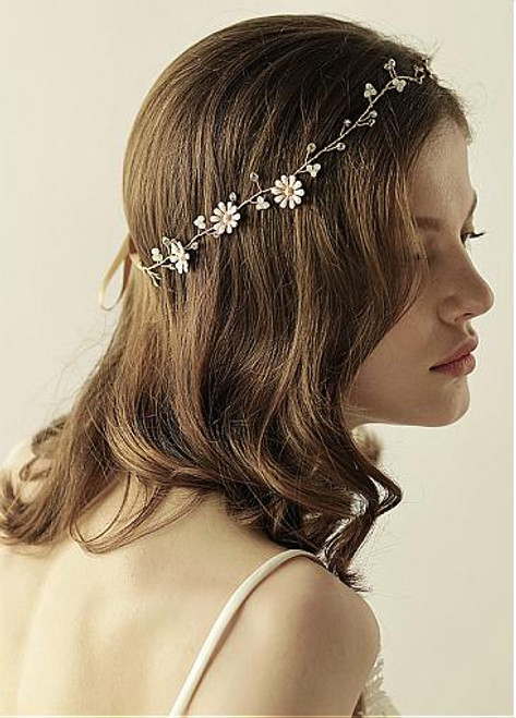 Cheap With Rhinestones & Flowers Beautiful Alloy Wedding Hair Jewelry