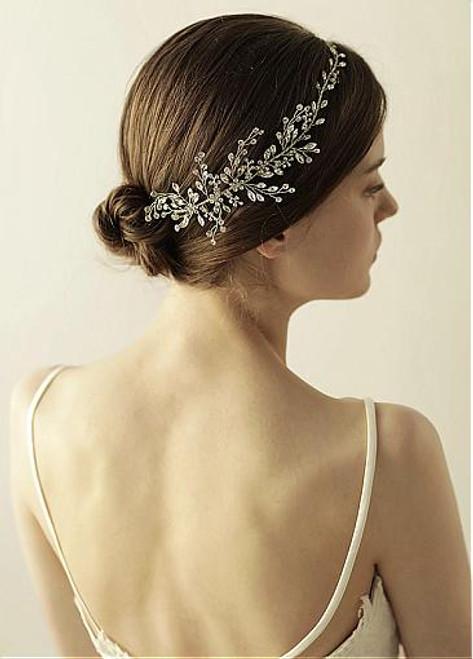 Hair Jewelry With Beading & Rhinestones Marvelous Alloy Wedding