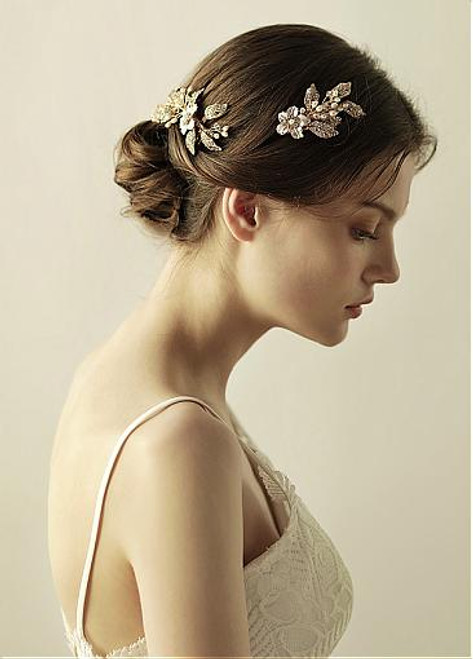Hair Sets With Rhinestones & Beading Romantic Alloy Wedding
