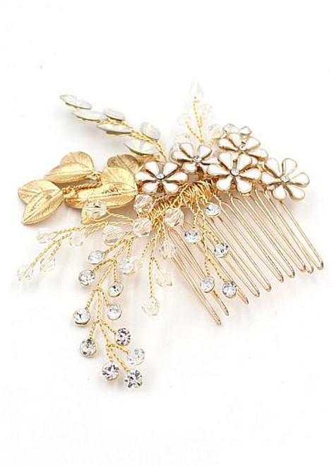 Wedding Hair Jewelry With Beading & Rhinestones Exquisite Alloy