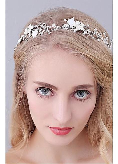 Fashion  Wedding Hair Ornaments With Rhinestones & Pearls