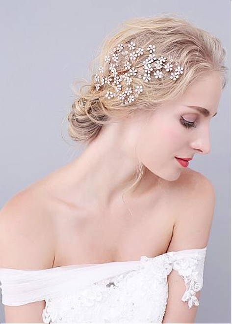 Fashion Graceful Wedding Hair Jewelry With Rhinestones