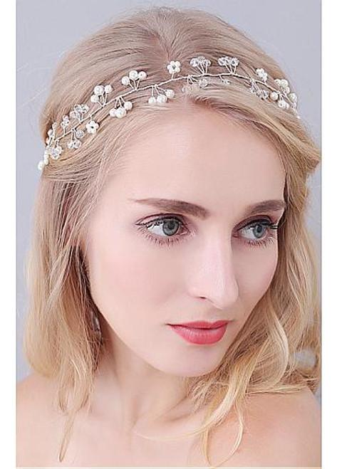 Beautiful  Wedding Hair Ornaments With Rhinestones & Pearls