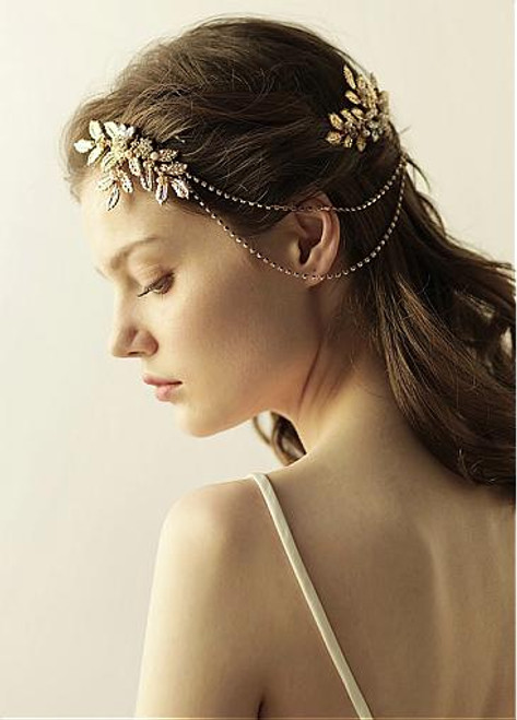 Wedding Hair Jewelry With Beading Charming Alloy