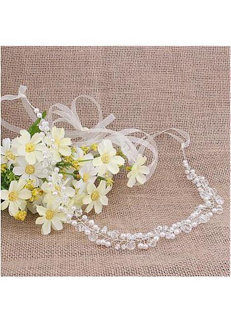 Fashion Hair Jewelry With Rhinestones & Pearls Glamoroust Wedding