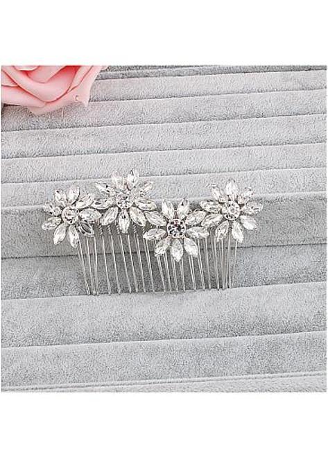 Fashion Elegant Alloy Wedding Hair Jewelry With Rhinestones