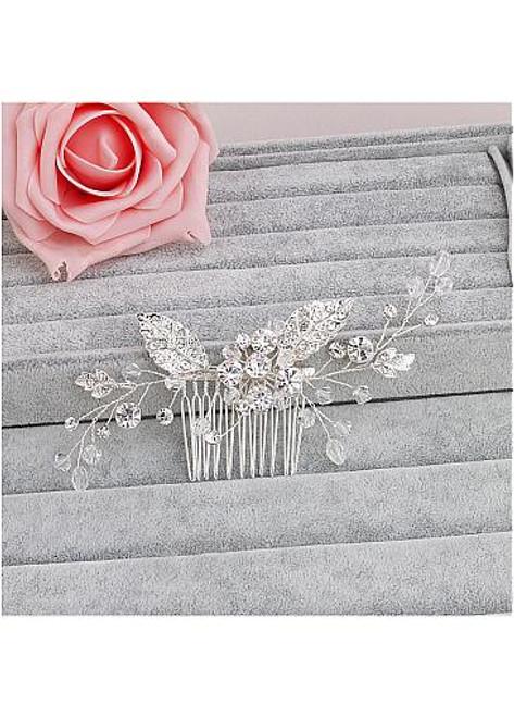 Jewelry With Rhinestones & Pearls Glamoroust Wedding Hair