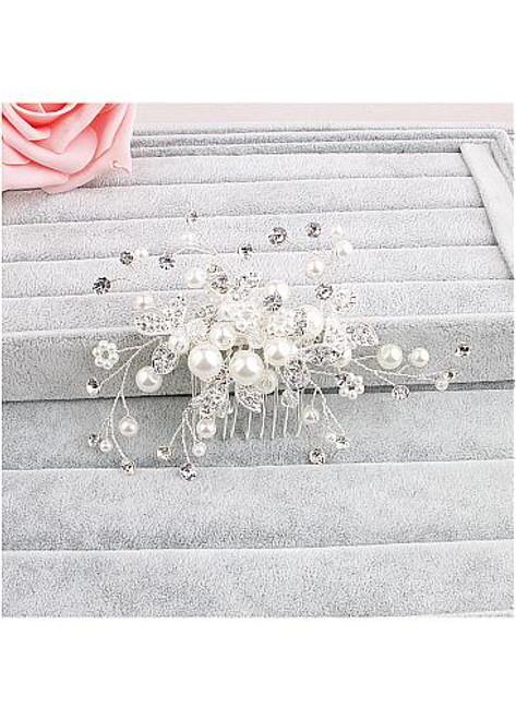 Beautiful Jewelry With Rhinestones & Pearls Glamoroust Wedding Hair