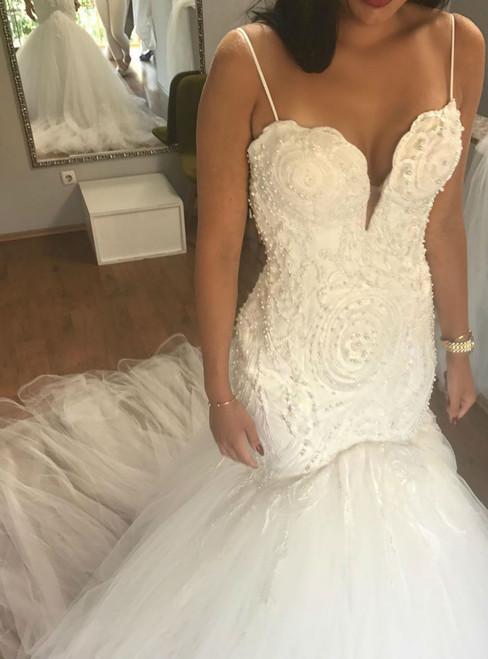 Queenly Charming Wedding Dress Sexy Spaghetti Straps Wedding Dresses