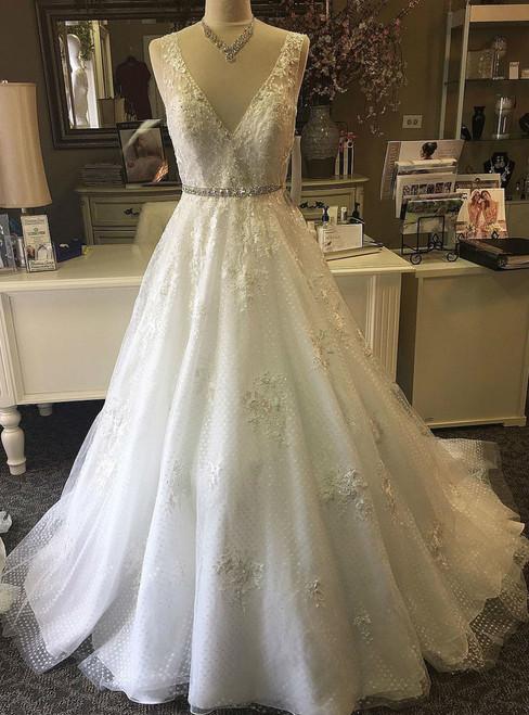 Popular Charming Wedding Dress Lace Wedding Dresses A Line Wedding Gown