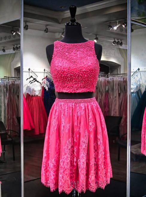 Hot Sale Peach Homecoming Dresses Sheer Back Sleeveless A-Line/Column