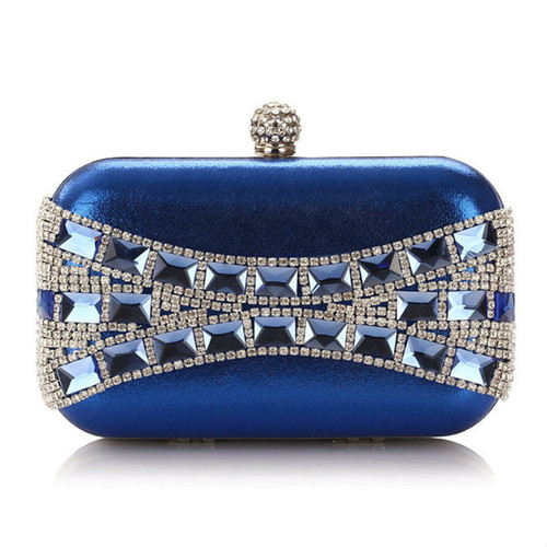 Cheap Geometric Crystal Evening Clutch Bag