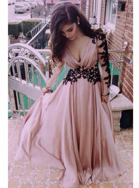 Evening Dress ,Sexy Long Sleeves Evening Dress 2017