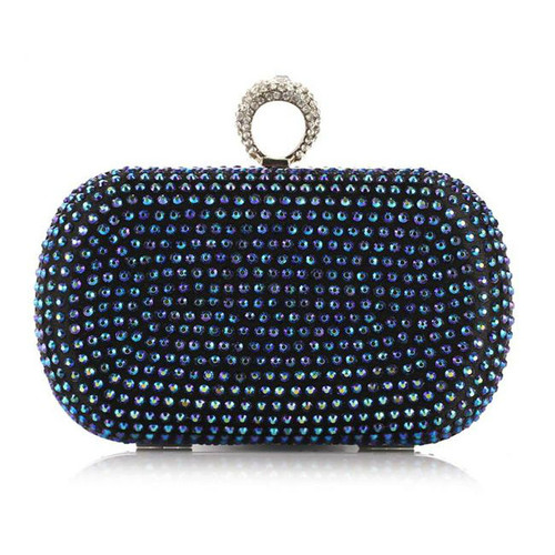 Fashion Luxurious Diamante Clutch Bag