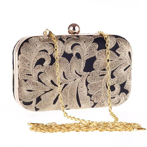 Cheap Vintage Embroidery Evening Clutch Bag