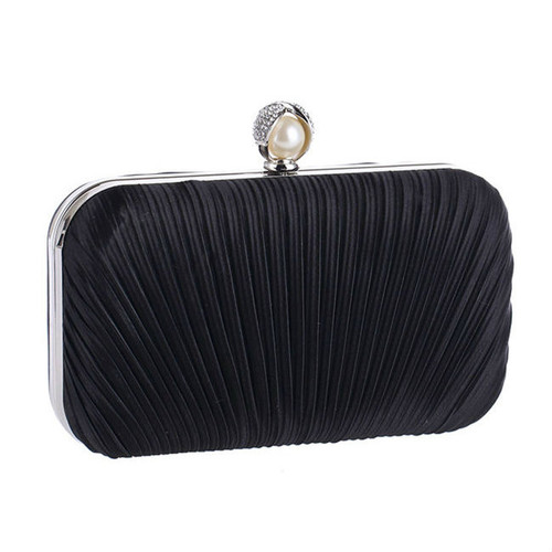 Fashion Embossed Evening Pearl Clutch Bag
