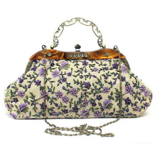 Cheap Floral Embroidery Vintage Clutch Bag