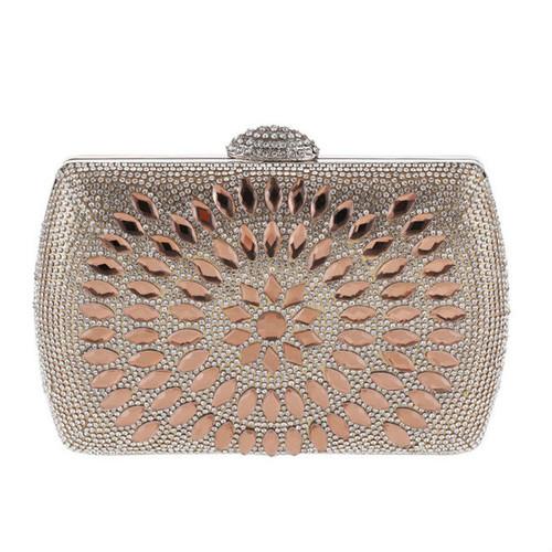 Cheap Geometric Diamante Evening Clutch Bag