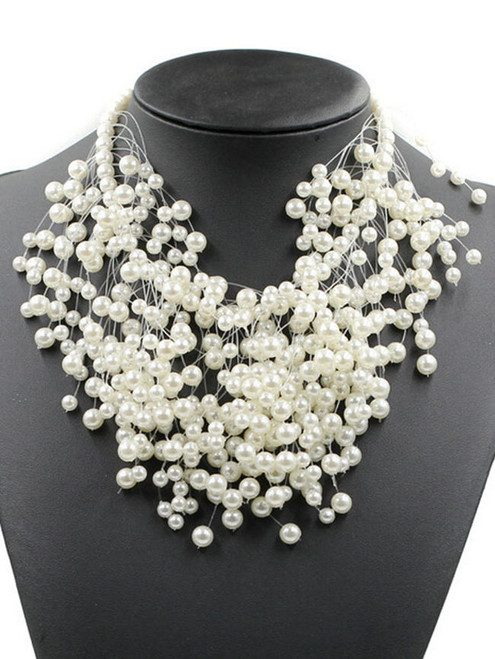 Fashion Pearl Beads Luxurious Necklace