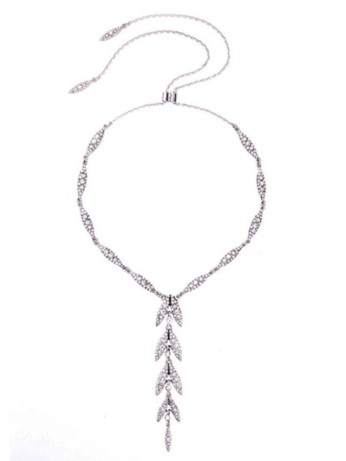 Cheap Stunning Adjustable Rhinestone Pendant Necklace