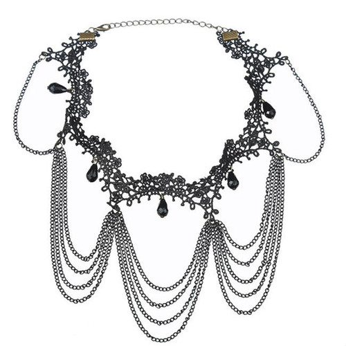 Fashion Black Lace Choker Necklace